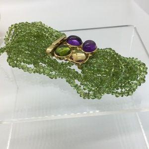 Jewelry - Rajola 18K Italian 4 Stone Cabochon Bracelet